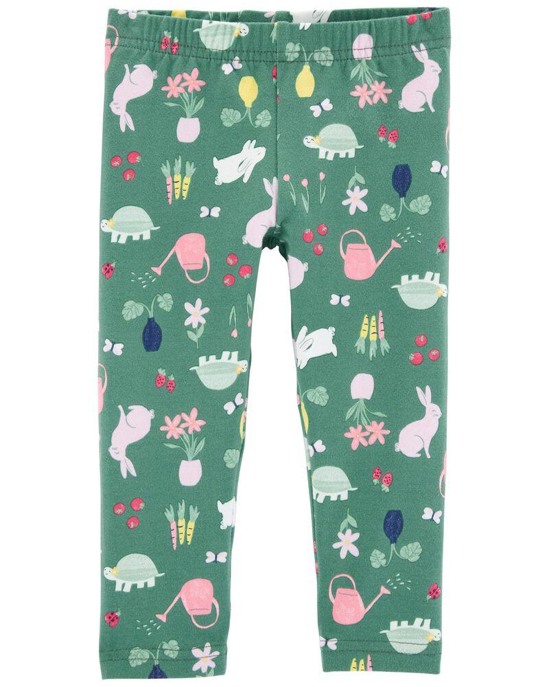 Floral Bunny Capri Leggings, , hi-res