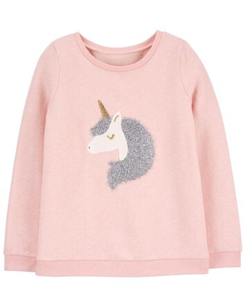 Unicorn Flip Sequin Fleece Top