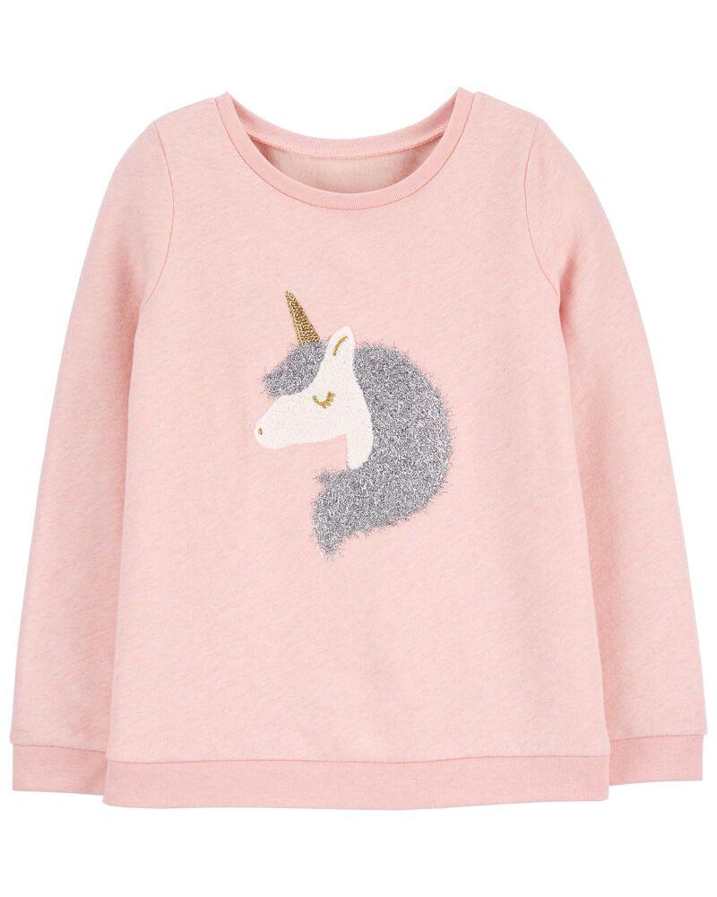 Unicorn Flip Sequin Fleece Top, , hi-res