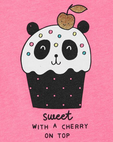 Neon Panda Cupcake Ruffle Tank