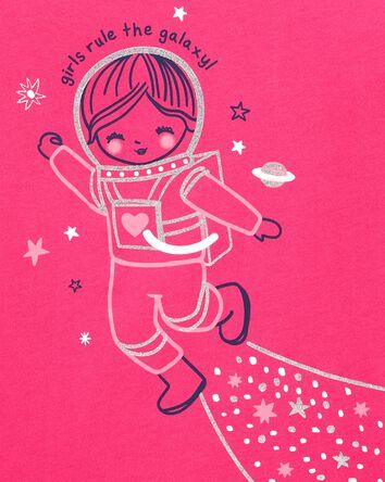 Glitter Astronaut Jersey Tee