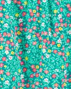 2-Piece Floral Tank & Chambray Short Set, , hi-res