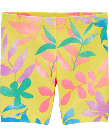 Short extensible à motif tropical