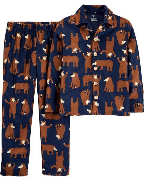 Pyjama 2 pièces en molleton à motif d'oursons