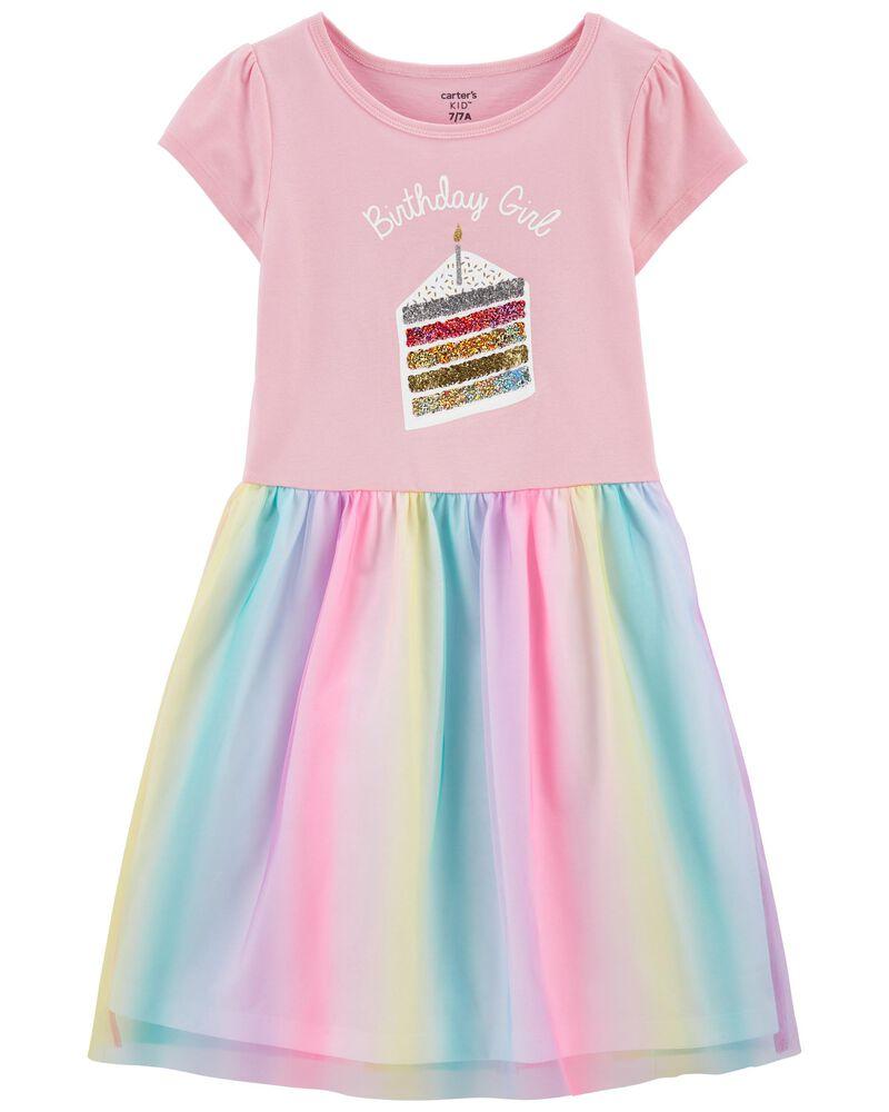Birthday Jersey Tutu Dress, , hi-res