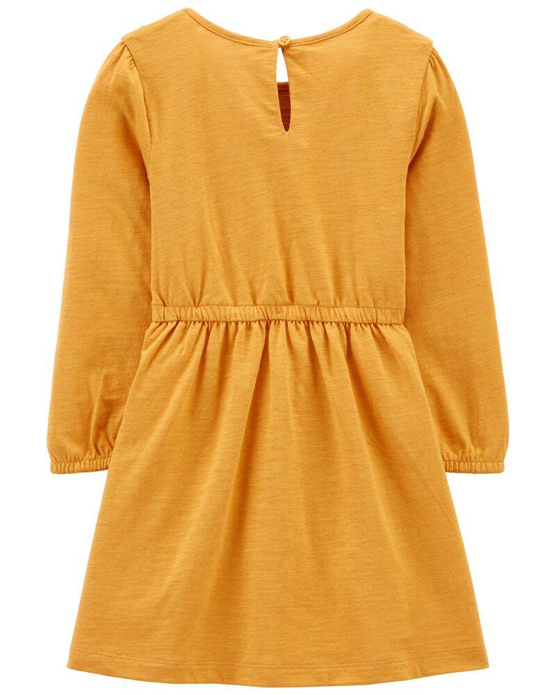 Crocheted Slub Jersey Dress, , hi-res