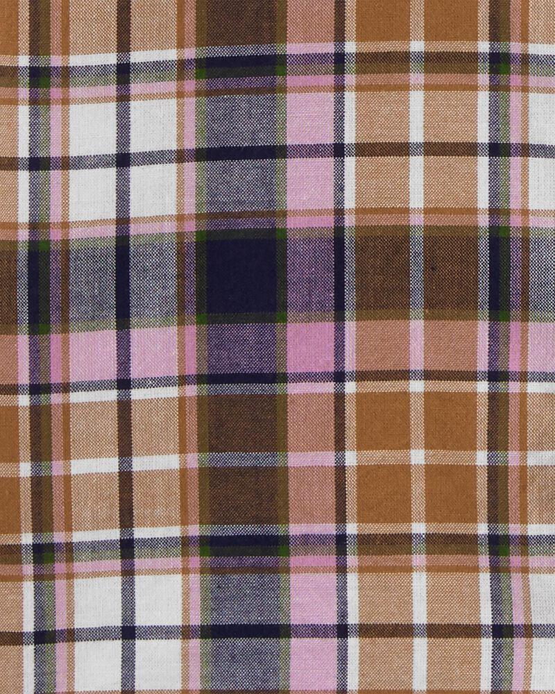 Chemise boutonnée àmotif écossais, , hi-res