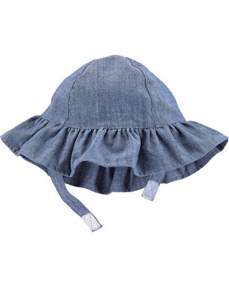Chapeau de soleil en chambray