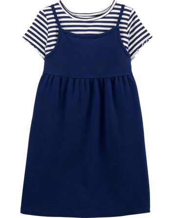 2-Piece Striped Tee & Dress Set