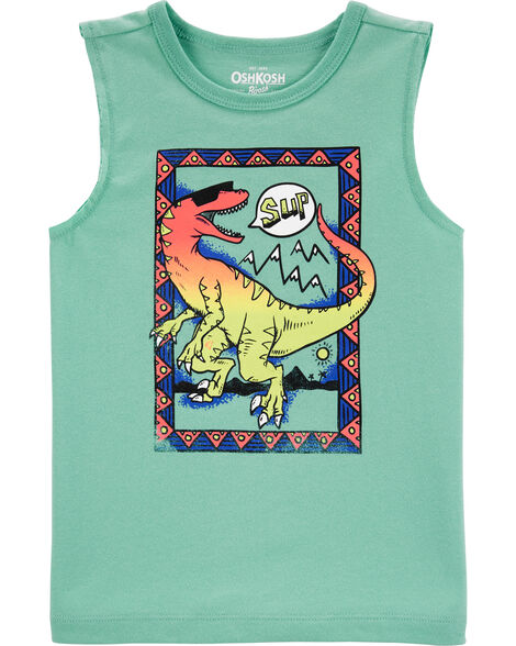Ombre Dinosaur Muscle Tank