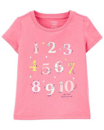 T-shirt en jersey à chiffres
