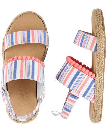 Striped Espadrille Sandals