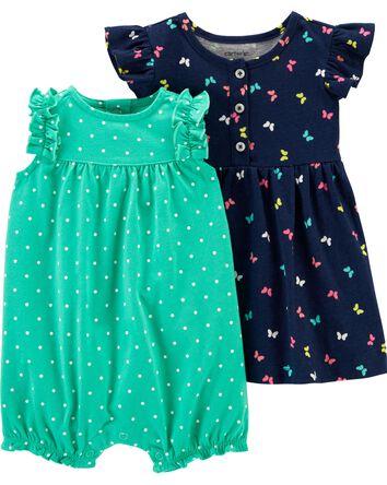 2-Pack Dress & Romper