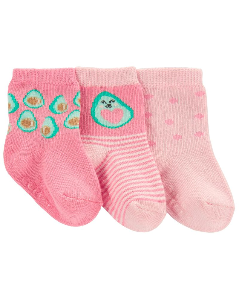3-Pack Avocado Crew Socks, , hi-res