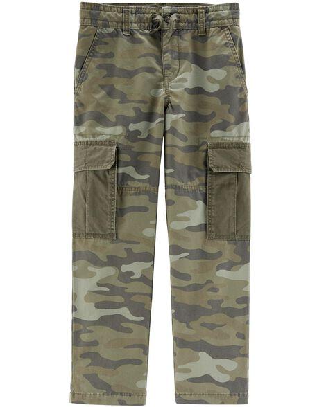 Camo Slim Cargo Pants
