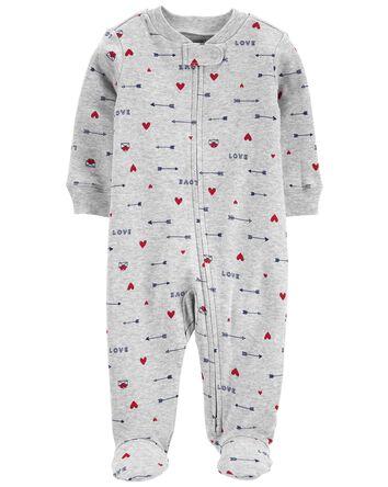 Valentine's Day 2-Way Zip Cotton Sl...