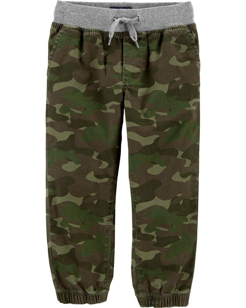 Pantalon de jogging extensible à motif camouflage, , hi-res