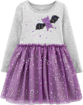 Halloween Bat Tutu Jersey Dress
