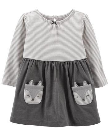 Panda Long-Sleeve Jersey Dress