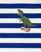 Striped Dinosaur Jersey Tee, , hi-res