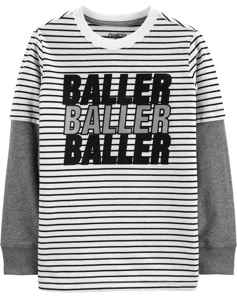 Layered-Look Graphic Tee