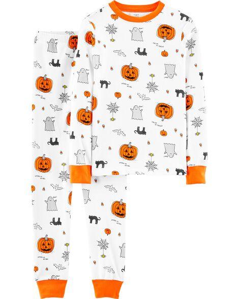 Pyjama d'Halloween 2 pièces en coton ajusté pour adulte