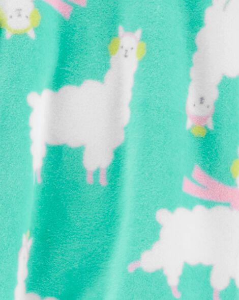 1-Piece Llama Fleece Footie PJs