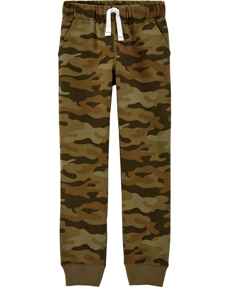 Camo Pull-On French Terry Joggers, , hi-res
