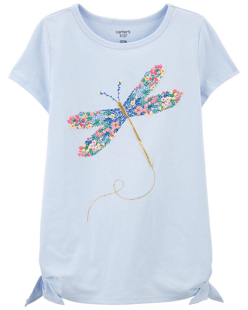 T-shirt en jersey à libellule, , hi-res