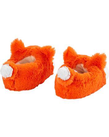 Pantoufles à renard orange