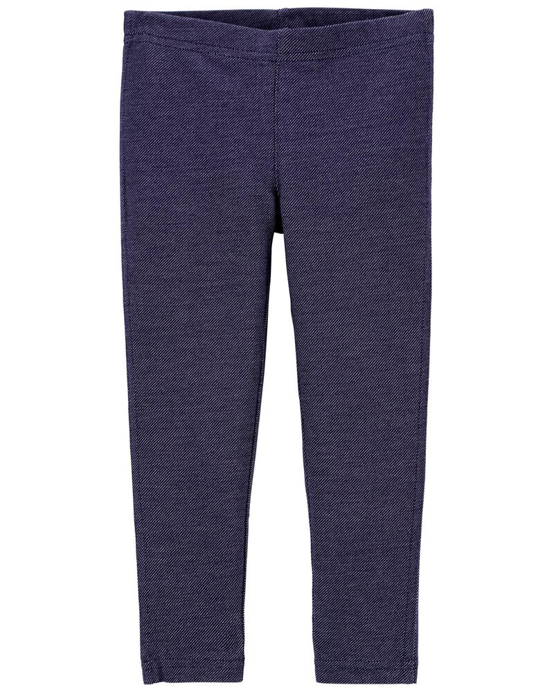 Legging en tricot denim, , hi-res