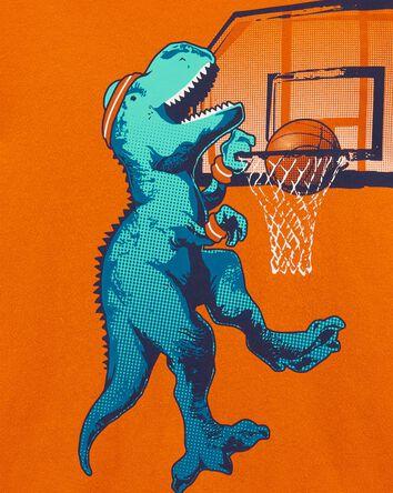 Dinosaur Basketball Jersey Tee