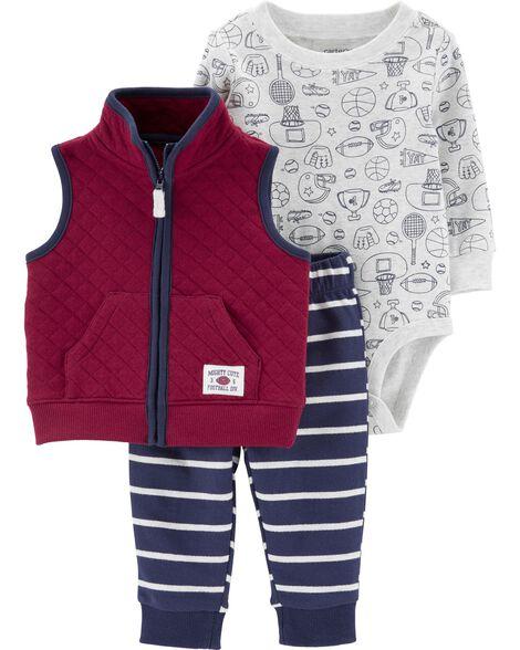 3-Piece Sports Little Vest Set