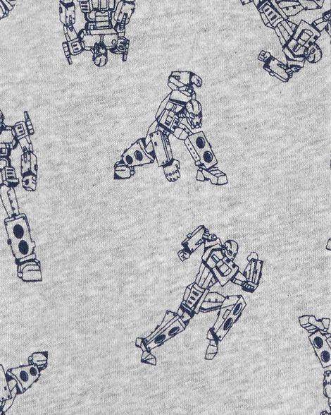 Robot Zip-Up Fleece-Lined Hoodie