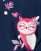 Owl Tie-Front Jersey Tee, , hi-res