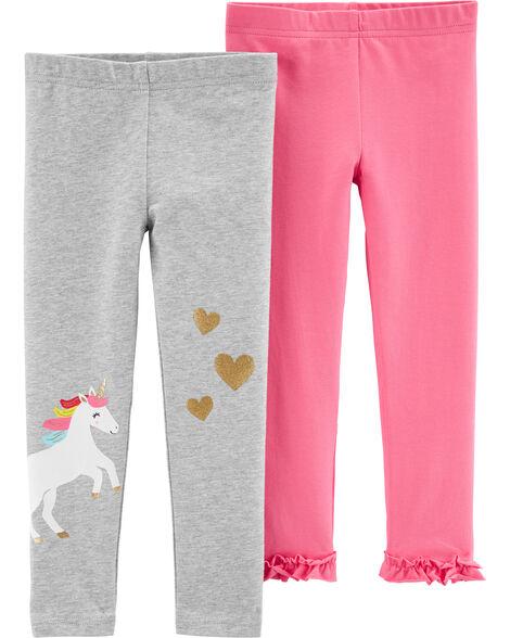 2-Pack Unicorn Leggings