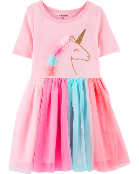 Glitter Unicorn Tutu Jersey Dress