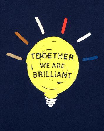 T-shirt en jersey Ampoule brillante