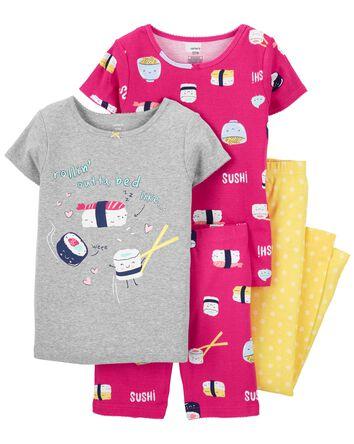 Pyjama 4 pièces en coton ajusté à s...