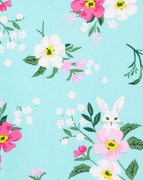 Robe à volants fleurie en jersey