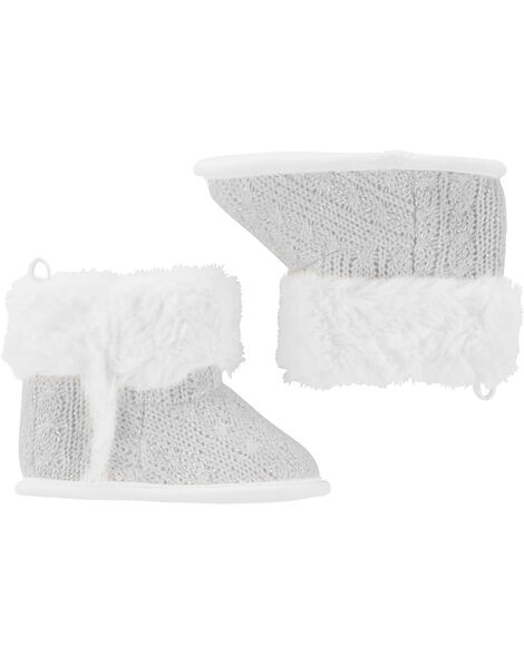 Cable Knit Boot Baby Shoes