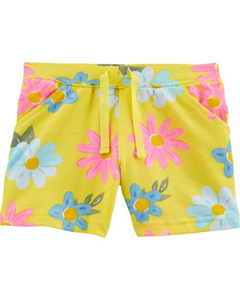 Floral Pull-On French Terry Shorts