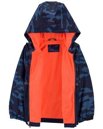Fleece-Lined Camo Colourblock Jacke...