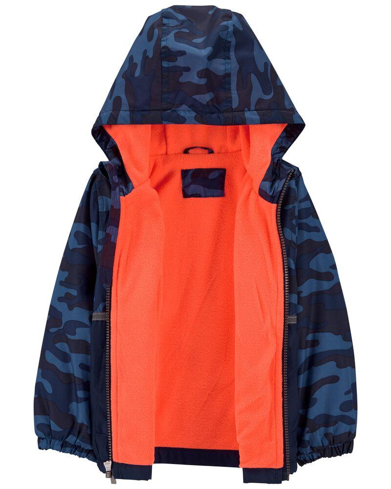 Fleece-Lined Camo Colourblock Jacket, , hi-res