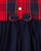 Robe en tulle à motif écossais scintillant, , hi-res