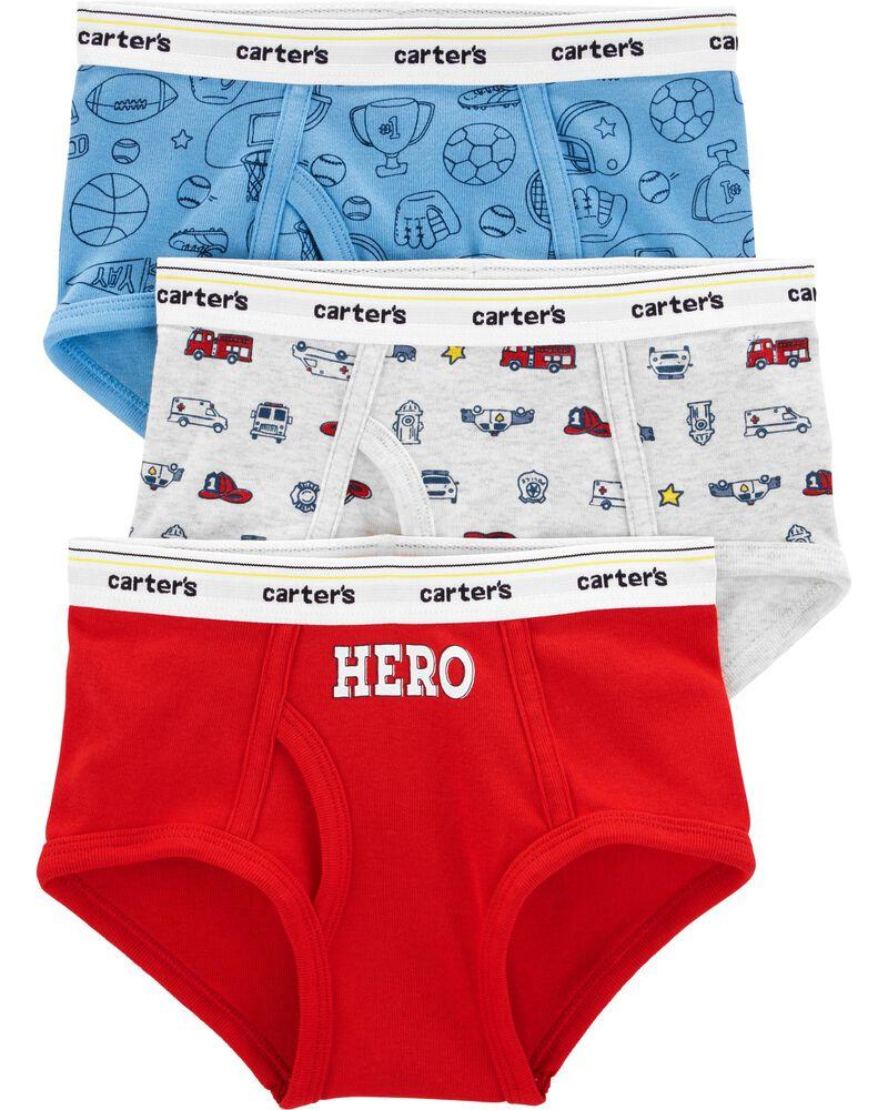 3-Pack Hero Cotton Briefs, , hi-res