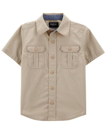 Button-Front Safari Shirt