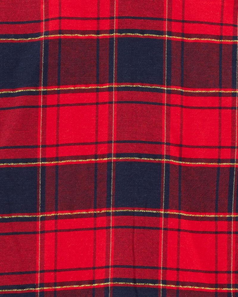 Robe chemisier à motif écossais scintillant, , hi-res