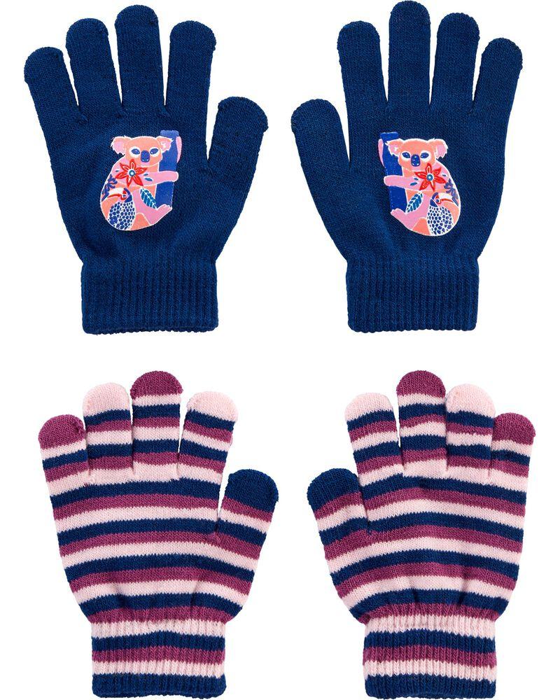 Emballage de 2 paires de gants koala à paume agrippante Kombi, , hi-res