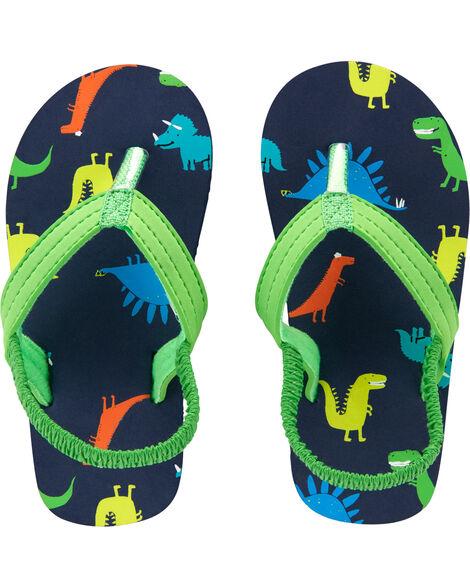 Sandales de plage à motif de dinosaures
